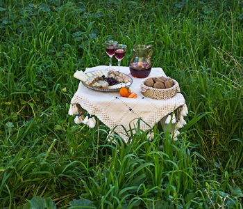 dining table in the countryside