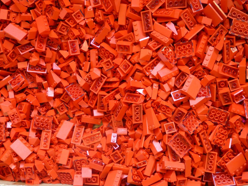 Red lego blocks